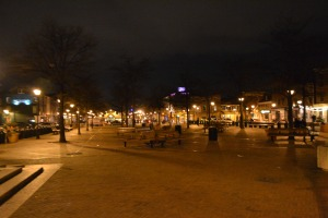 Fells Point Square Swept Clean. A spontaneous Super Party wasn't going to happen